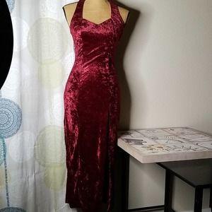 Stunning Vintage All That Jazz Red Velvet Dress